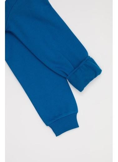 Defacto –Fit Erkek Çocuk  Baskılı  Sweatshirt Mavi